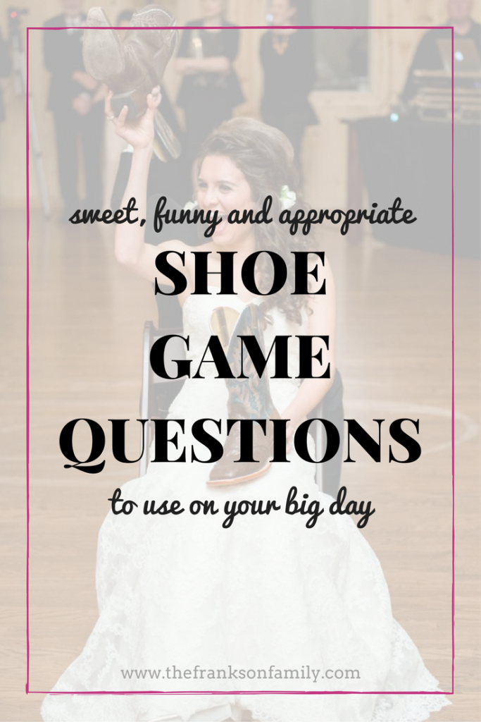 Best Wedding Shoe Game Questions