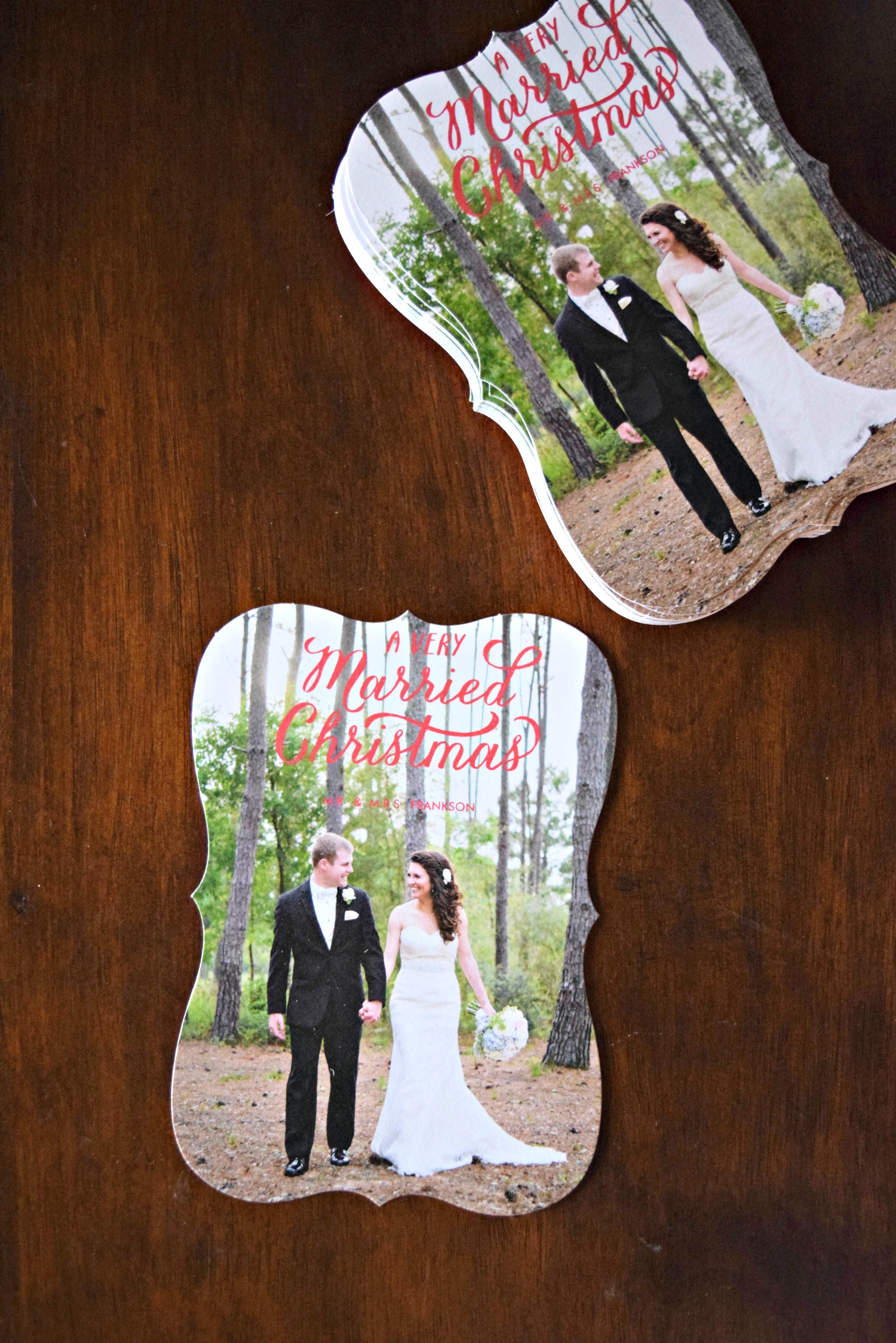 Christmas Cards for Newlyweds - A Simplified Life