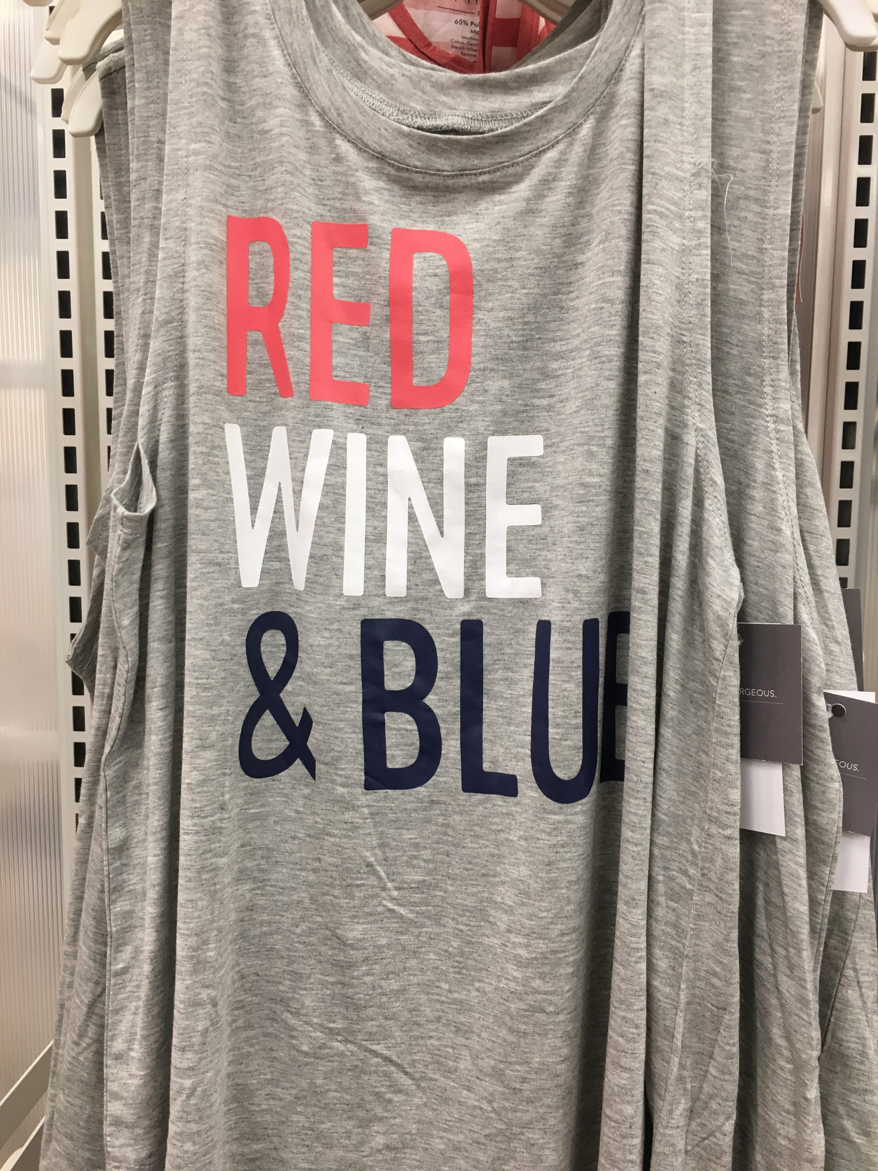 red wine and blue tank | 4th of july tank