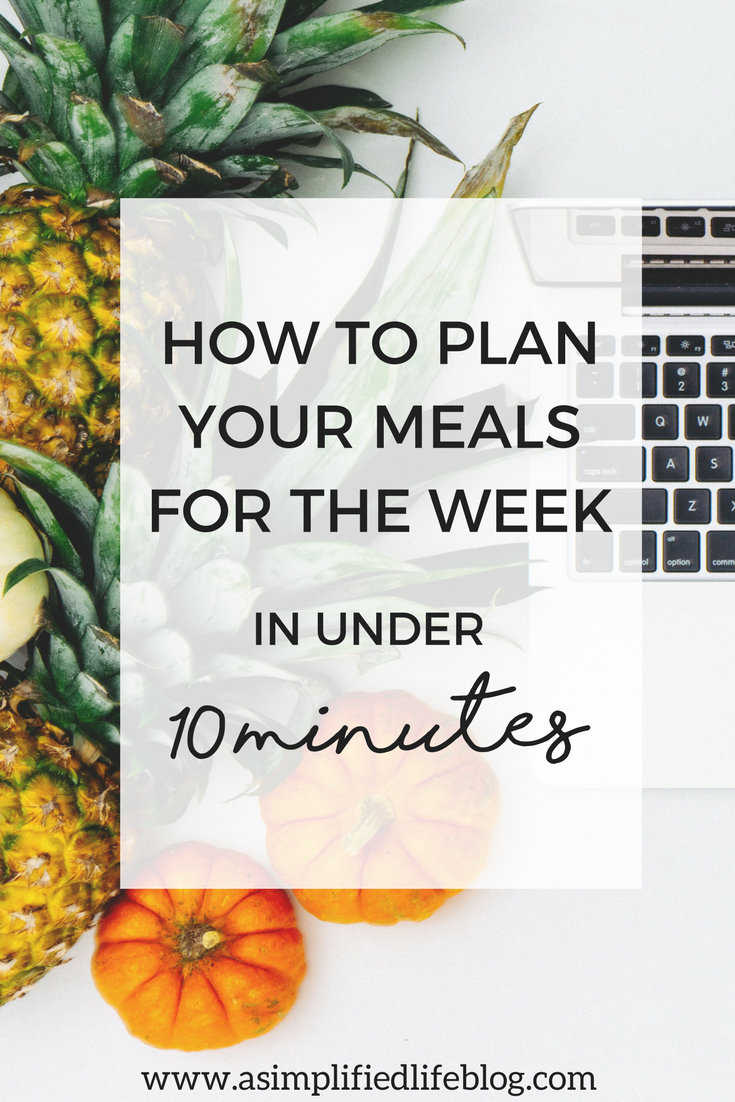 How To Plan Your Meals For The Week in Less Than 10 Minutes