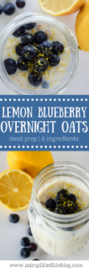lemon blueberry overnight oats | overnight oats recipe | meal prep | breakfast meal prep ideas | oatmeal recipes