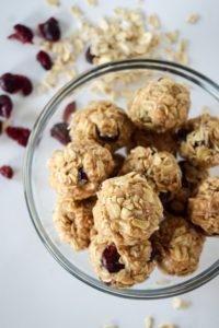 Cranberry Oatmeal No Bake Energy Bites