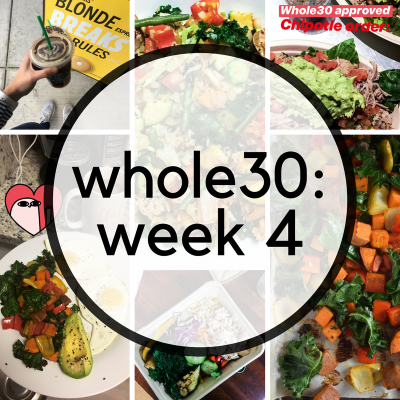 Whole30 Week 4 Recap